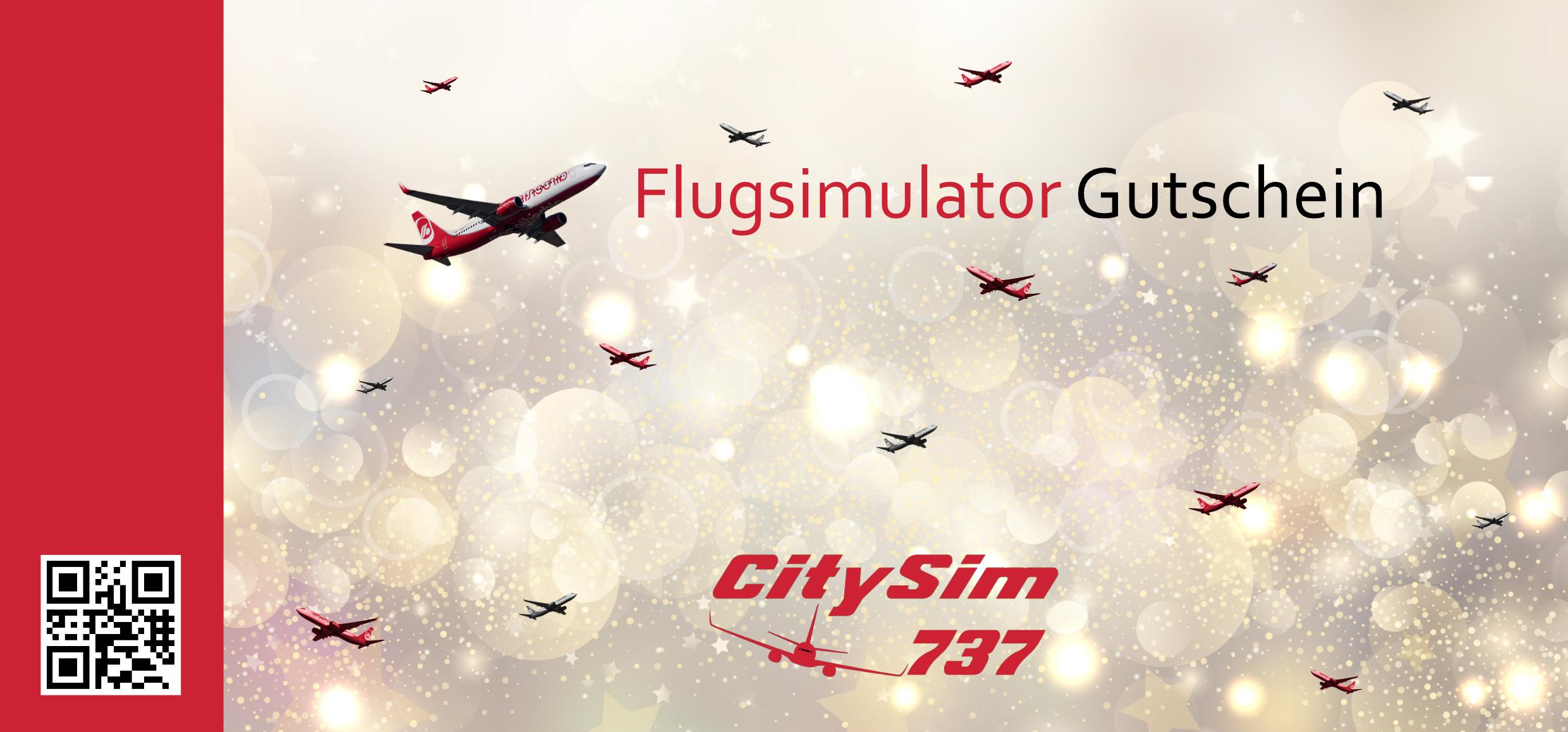 Gutschein für einen CitySim Flug